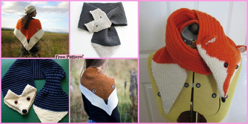 5 Cutest Knitting Fox Scarf Free Patterns Diy 4 Ever