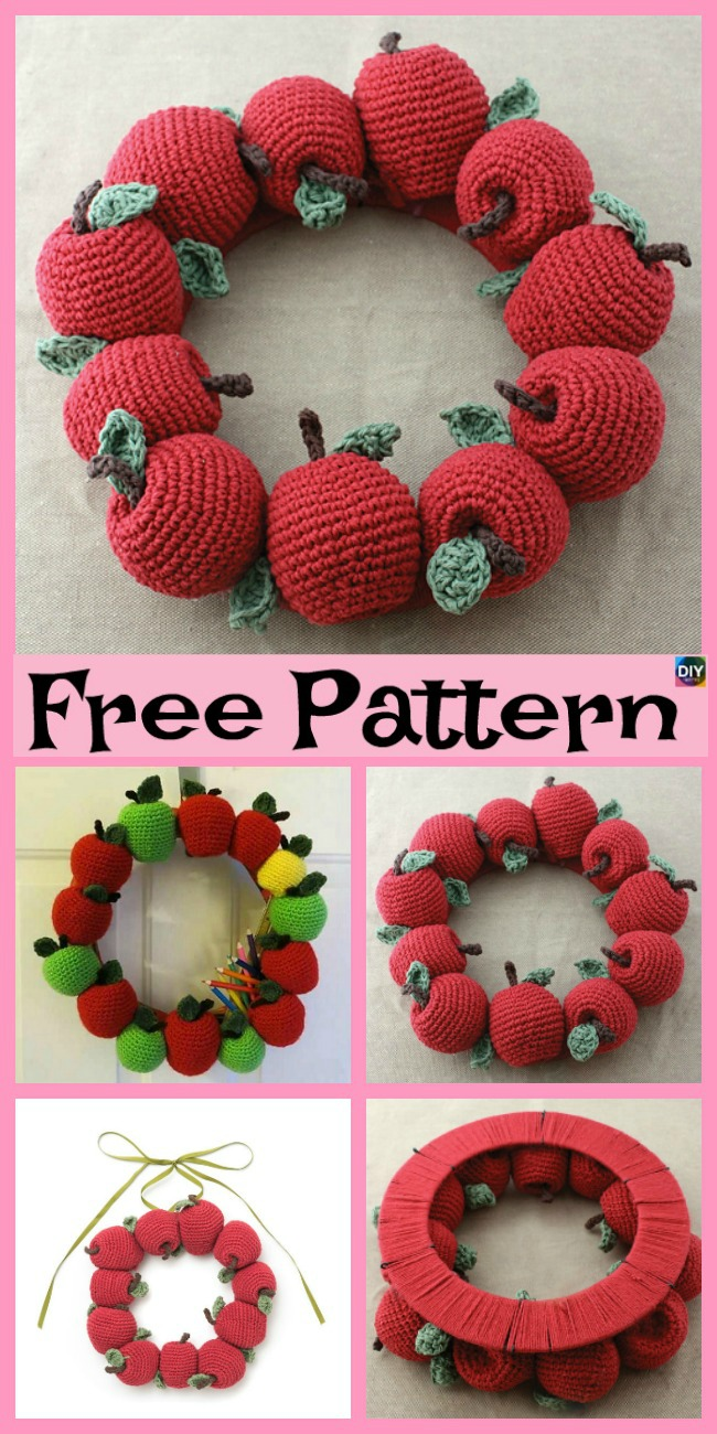 diy4ever-6 Crochet Apple Amigurumi Free Patterns