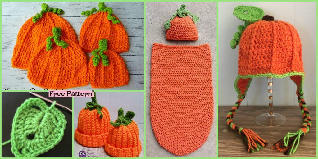 8 Cutest Crochet Pumpkin Hat Free Patterns Diy 4 Ever