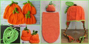 diy4ever 8 Cutest Crochet Pumpkin Hat Free Patterns F 300x150 - Cute Crochet Llama Hat - Free Pattern