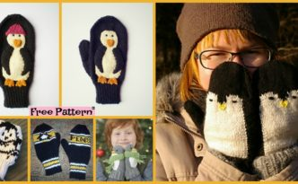 diy4ever Adorable Knit Penguin Mittens Free Patterns F 332x205 - Adorable Knit Penguin Mittens - Free Patterns