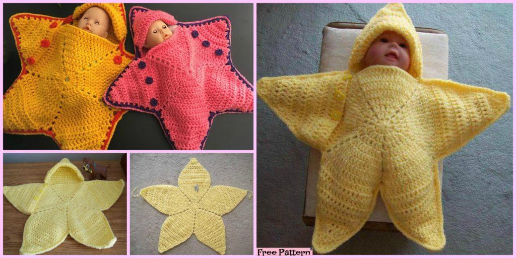 Cute Crochet Baby Star Bunting Free Pattern Diy 4 Ever
