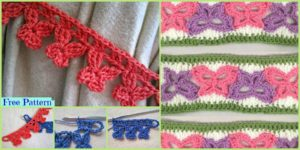 diy4ever Crochet Butterfly Ties Free Patterns F 300x150 - 10 Unique Crochet Throw Free Patterns