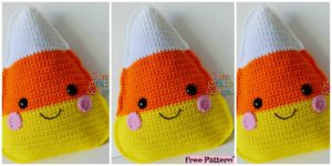 -Crochet Candy Corn Kawaii Cuddler - Free Pattern
