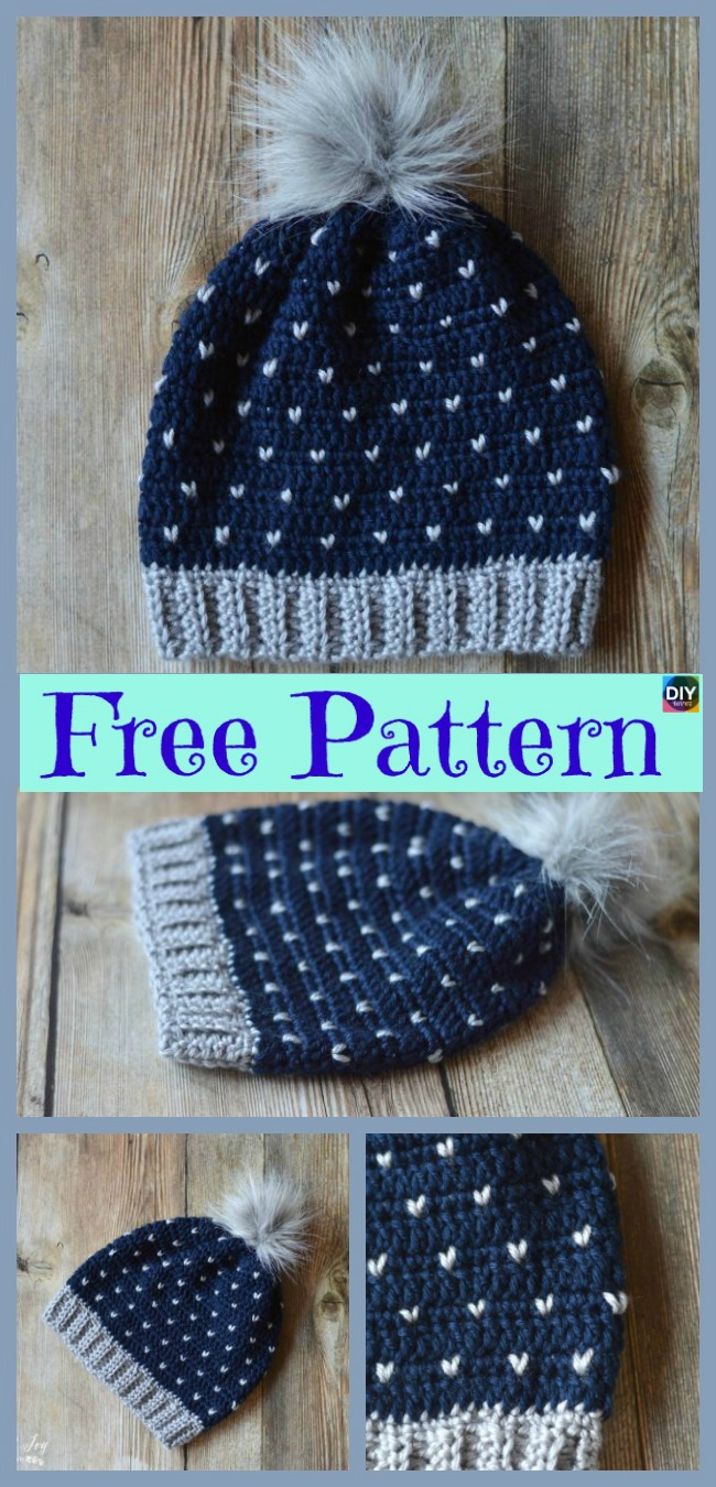 diy4ever-Crochet   Hat – Free Patterns