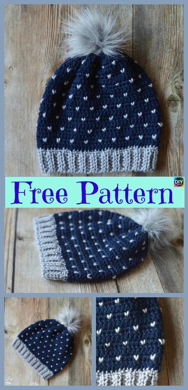 Unique Crochet Chevron Hat Free Patterns Diy 4 Ever