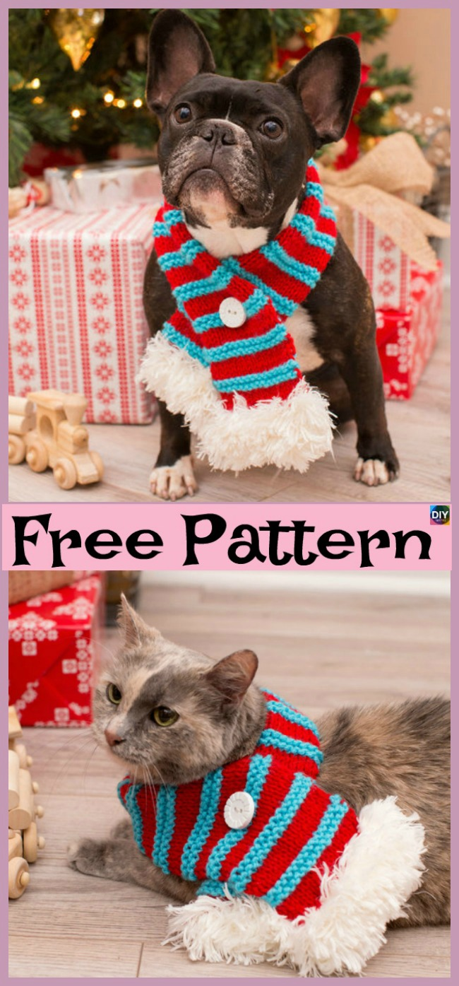 diy4ever- Crochet Dog Neck Warmer - Free Pattern