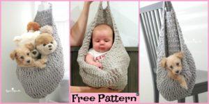 diy4ever-Crochet Hanging Sack Basket - Free Pattern