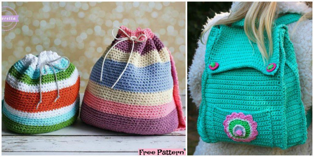 Crochet Kid Backpack Free Pattern Diy 4 Ever