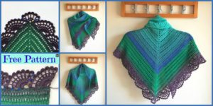 diy4ever Crochet Peafowl Feathers Shawl Free Pattern F 300x150 - Cute Crochet Applique Bees - Free Patterns