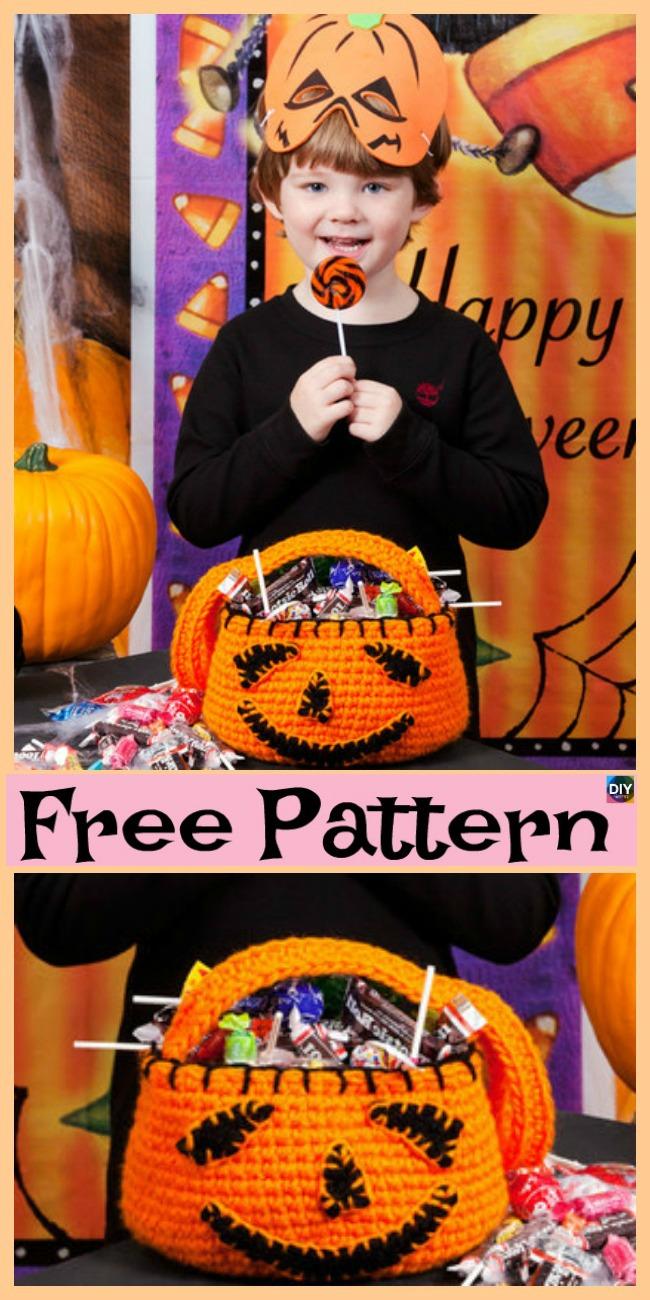 diy4ever- Crochet Pumpkin Treat Bowl - Free Pattern