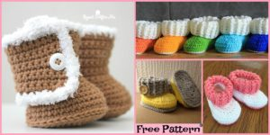 diy4ever-Crochet UGG style Booties - Free Patterns