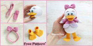 diy4ever Crochet Webby Duck Amigurumi Free Pattern F 300x150 - Crochet Mama Baby Foxes  - Free Pattern