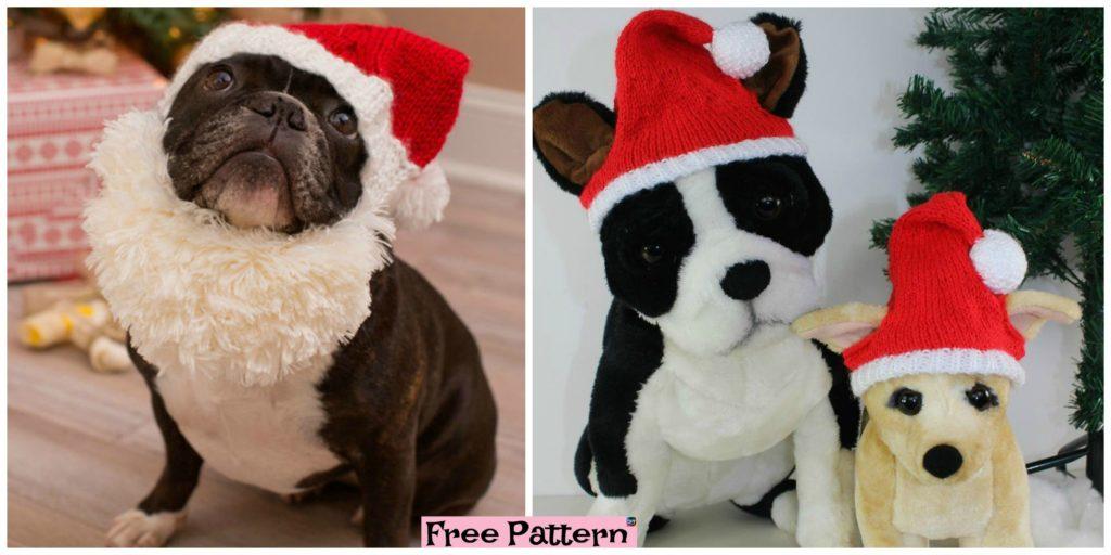 Knit Dog Santa Hat Free Patternt Diy 4 Ever