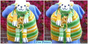 diy4ever Knit Kids Backpack Free Pattern F 300x150 - Pretty Knitting Lace Poncho- Free Patterns
