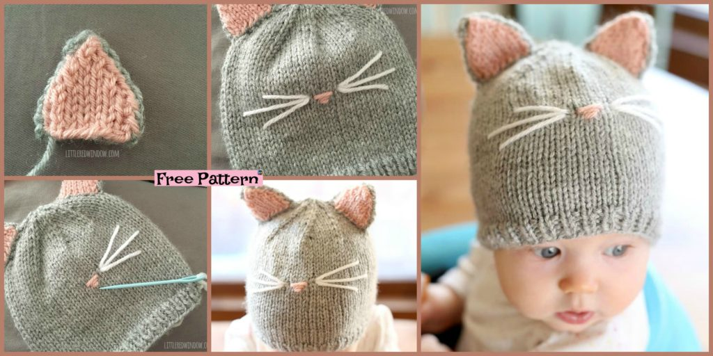 Pretty Knitting Kitty Cat Hat Free Pattern Diy 4 Ever