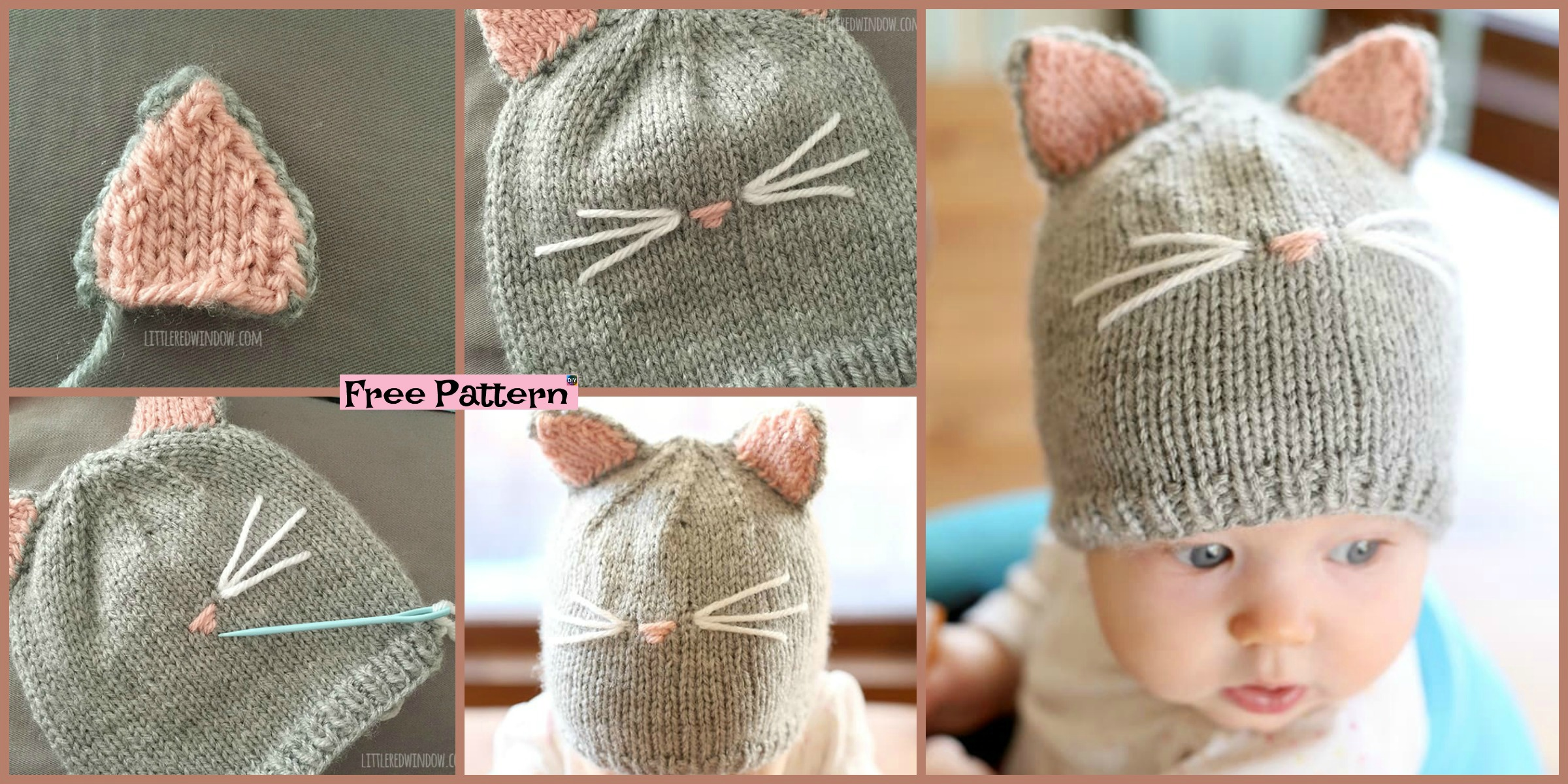 diy4ever Knitting Kitty Cat Hat Free Pattern F - Adorable Knit Kids' Backpack - Free Pattern