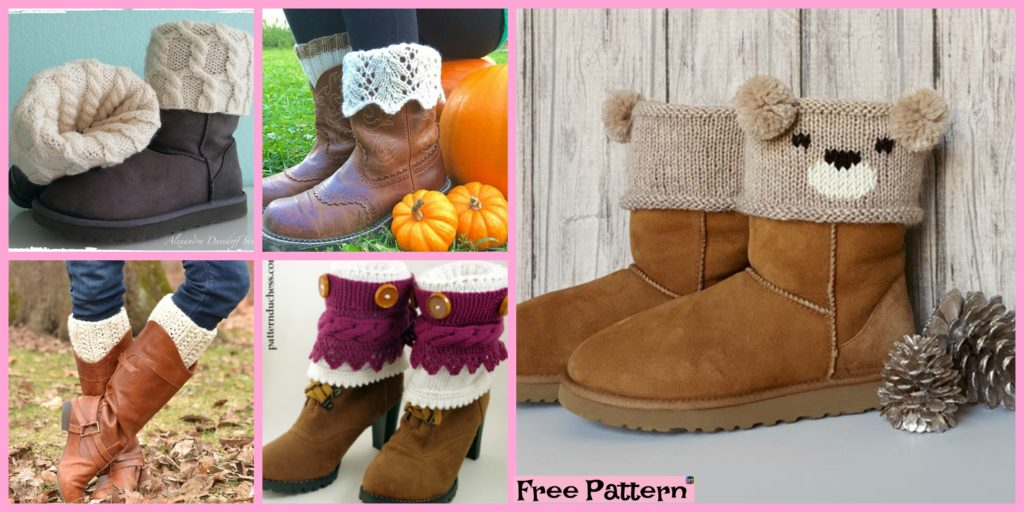 10 Cozy Knitting Boot Cuffs Free Patterns Diy 4 Ever