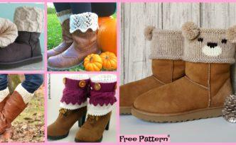10 Cozy Knitting Boot Cuffs Free Patterns F 332x205 - 10 Cozy Knitting Boot Cuffs - Free Patterns