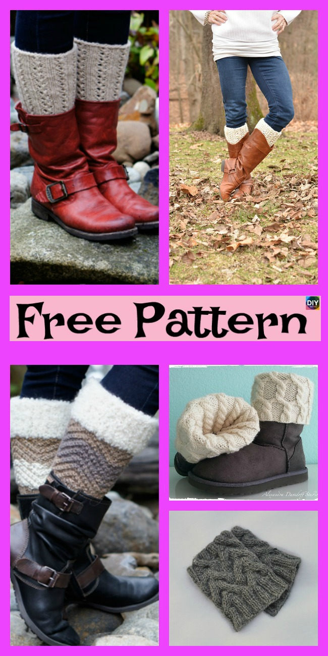 diy4ever-10 Cozy Knitting Boot Cuffs - Free Patterns