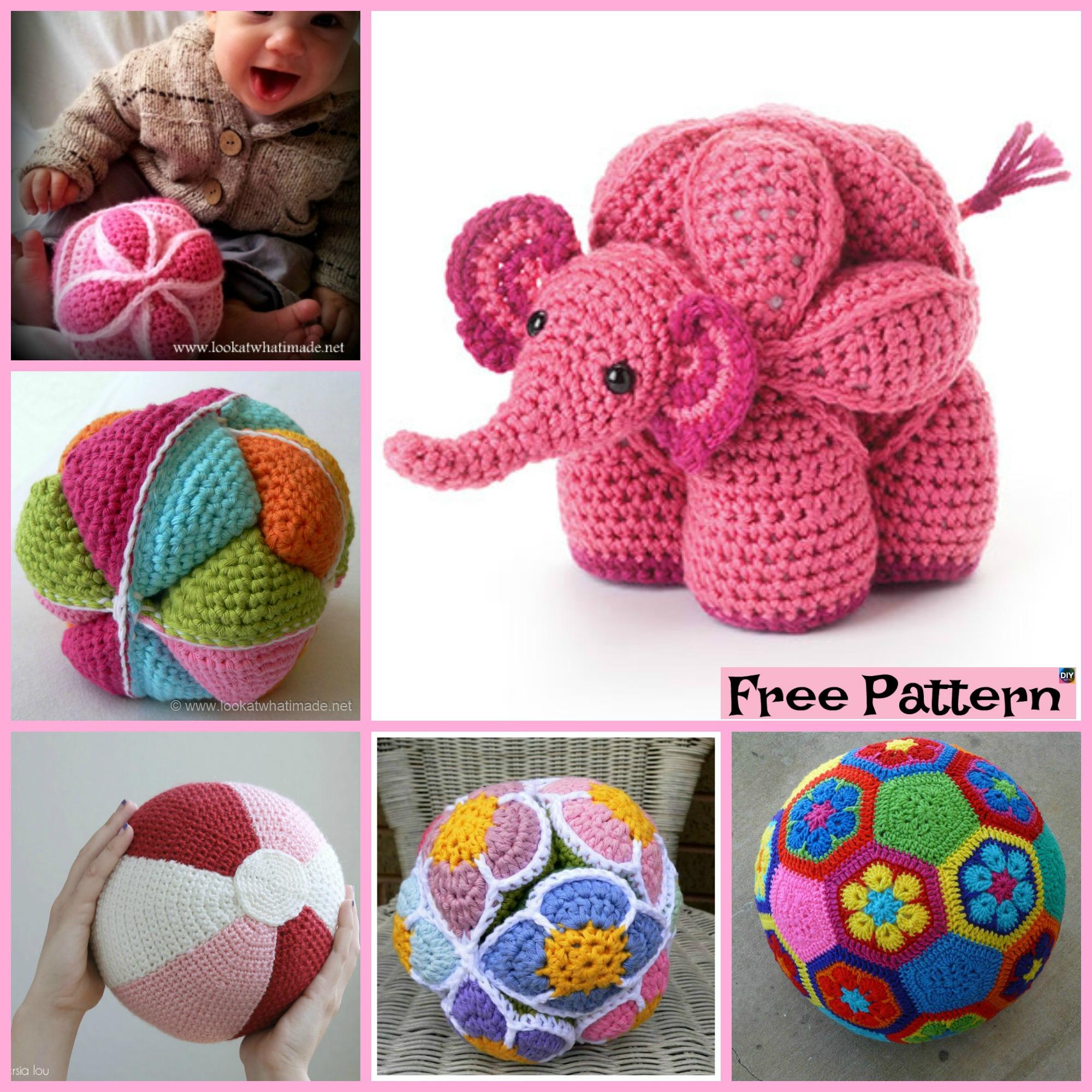diy4ever-10 Cute Crochet Balls - Free Patterns