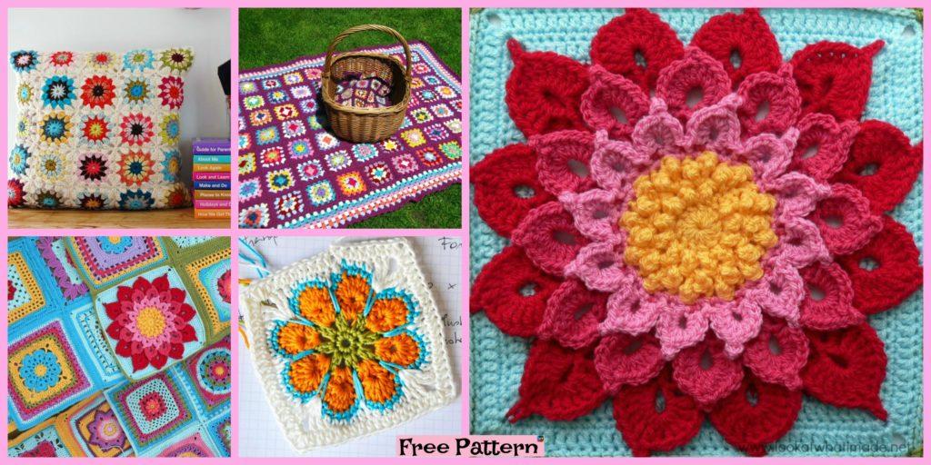 10 Beautiful Crochet Granny Squares Free Patterns Diy 4 Ever