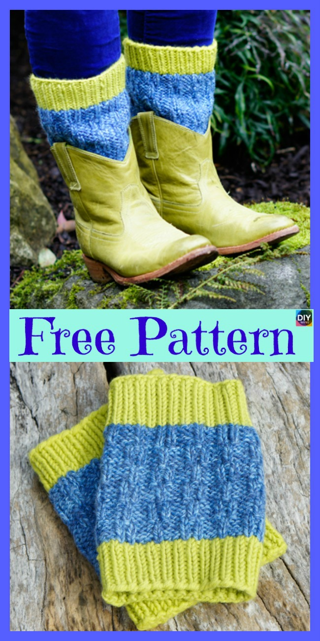 10 Cozy Knitting Boot Cuffs - Free Patterns - DIY 4 EVER