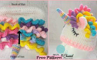 diy4ever-Crochet Unicorn Hat - Free Pattern