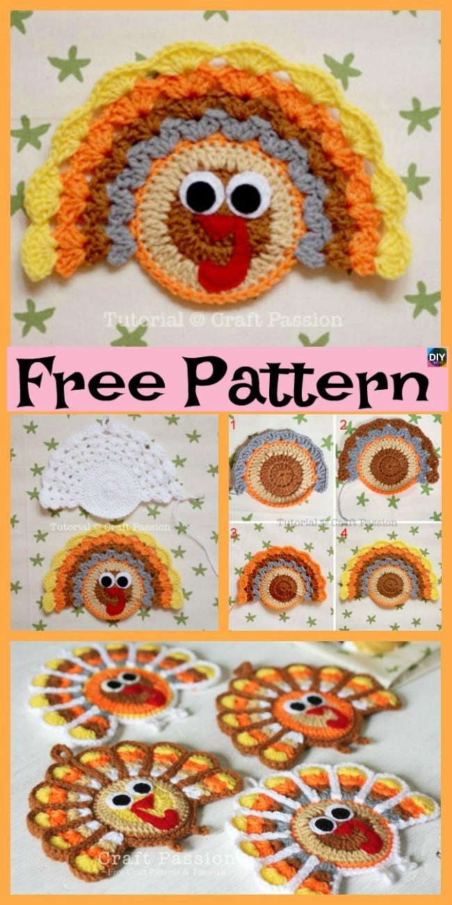 diy4ever- 10+ Crochet Amigurumi Turkeys - Free Patterns