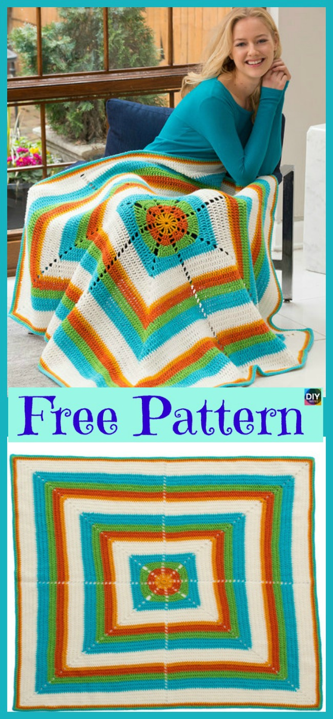 diy4ever-10 Unique Crochet Throw Free Patterns