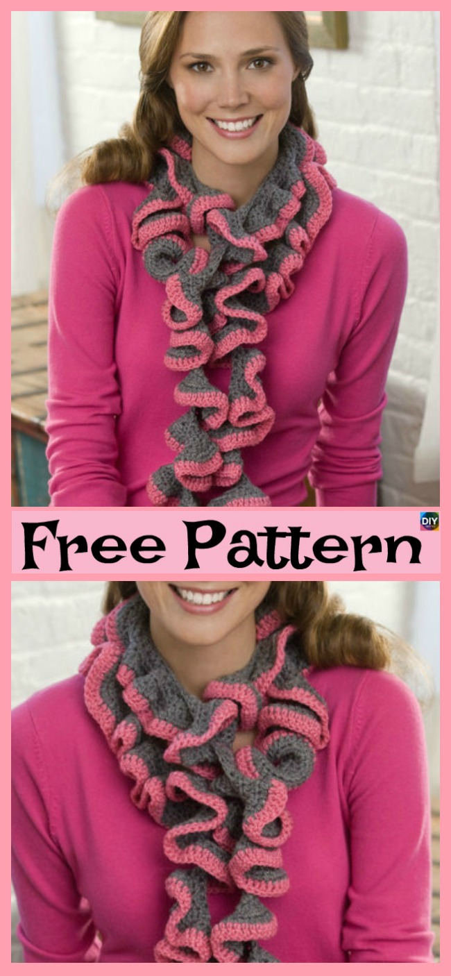 Ruffle Scarf Crochet Pattern Custom Inspiration Ideas