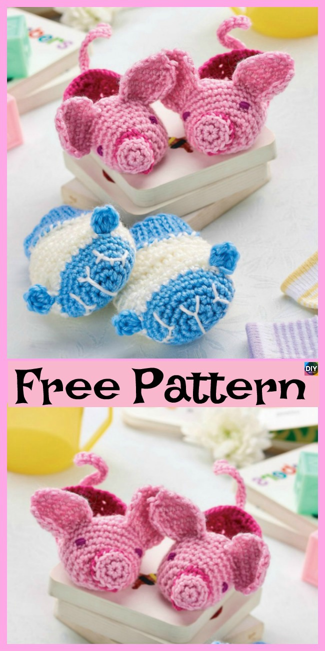 diy4ever-8 Crochet Winter Baby Booties - Free Patterns