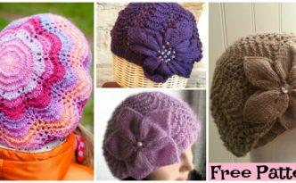 diy4ever Cozy Knit Flower Beret Free Pattern F 332x205 - Cozy Knit Flower Beret - Free Pattern
