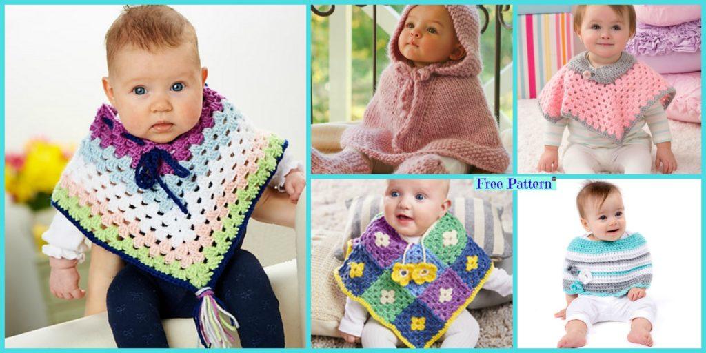 Crochet Baby Poncho Free Patterns Diy 4 Ever