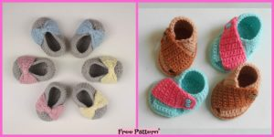 diy4ever-Crochet Baby Stylish Shoes - Free Pattern