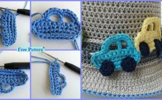 diy4ever Crochet Car Applique Free Pattern F 332x205 - Cute Crochet Car Applique - Free Pattern