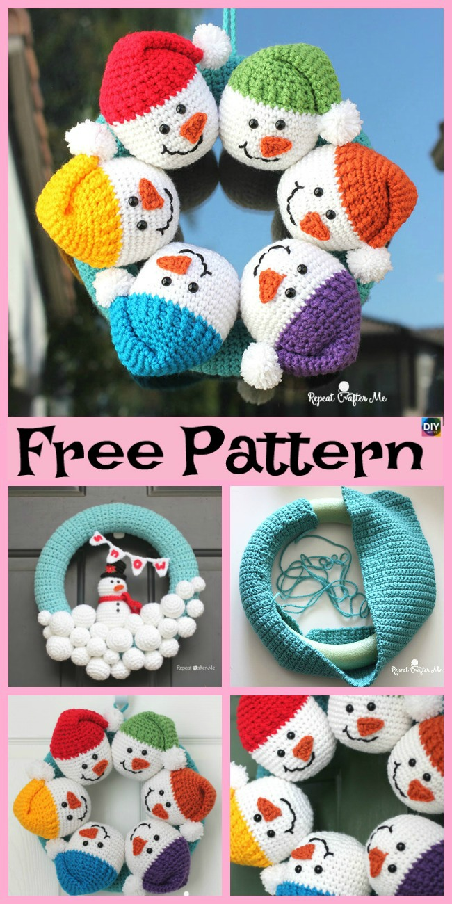 diy4ever-Crochet Cute Snowman - Free Pattern