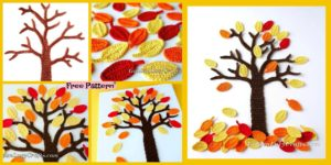 diy4ever-Crochet Fall Tree Wall Art – Free Pattern