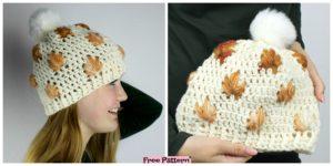 diy4ever Crochet Leafly Autumn Hat Free Pattern F 300x150 - Cozy Crochet NIMA Slippers - Free Pattern