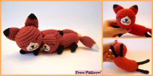 diy4ever Crochet Mama Baby Foxes Free Pattern F 300x150 - Cute Crochet Unicorn Hat - Free Pattern
