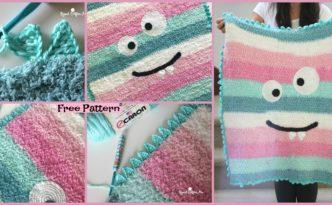 diy4ever-Crochet Monster Blanket - Free Pattern