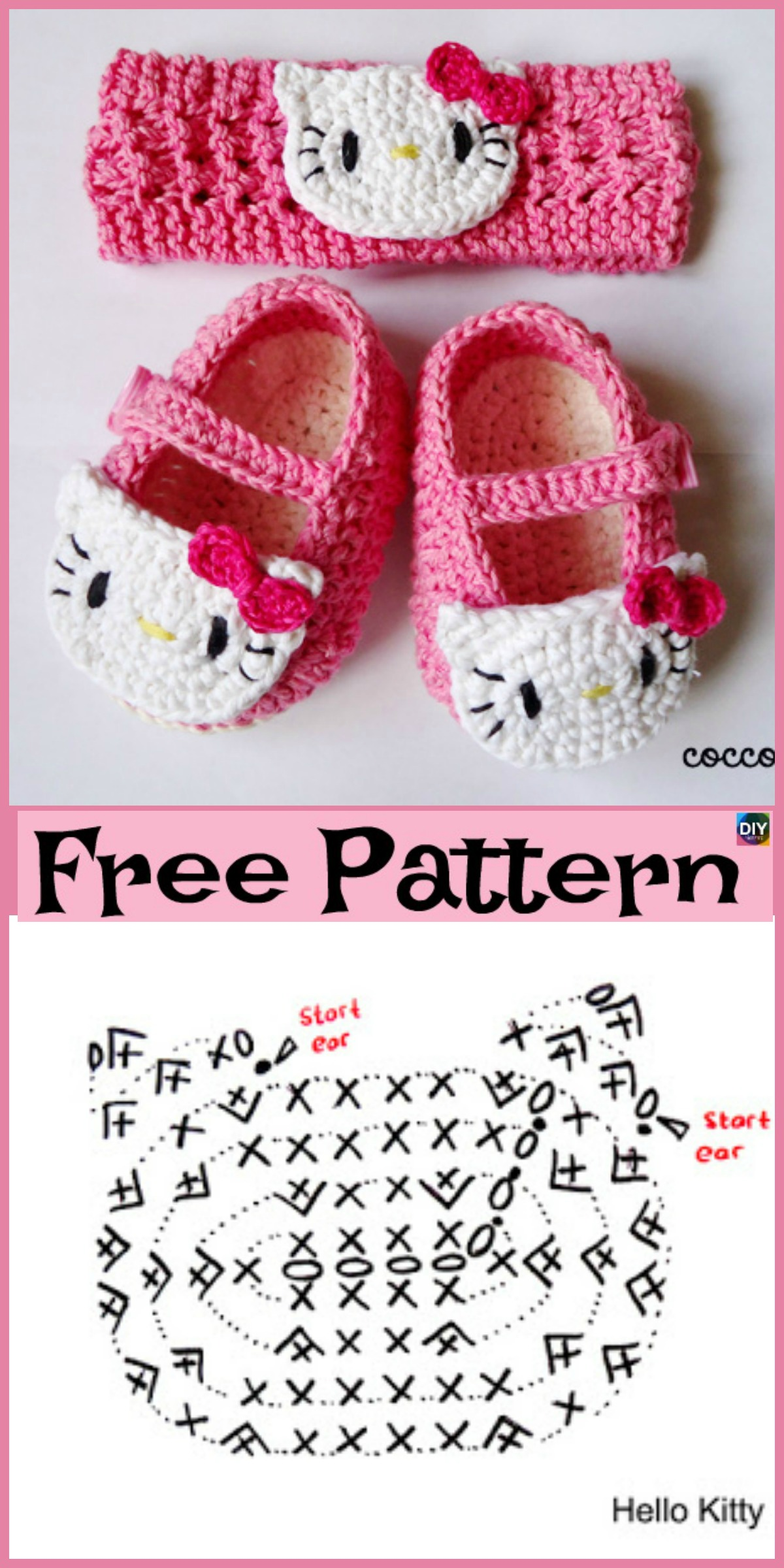 diy4ever-Cute Crocheted Baby Shoes - Free Patterns