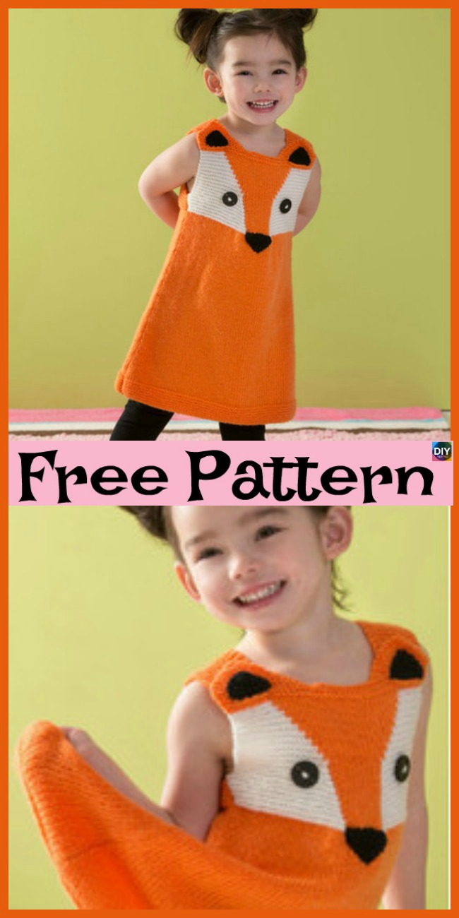diy4ever- Knit Fox Tunic & Slippers - Free Patterns
