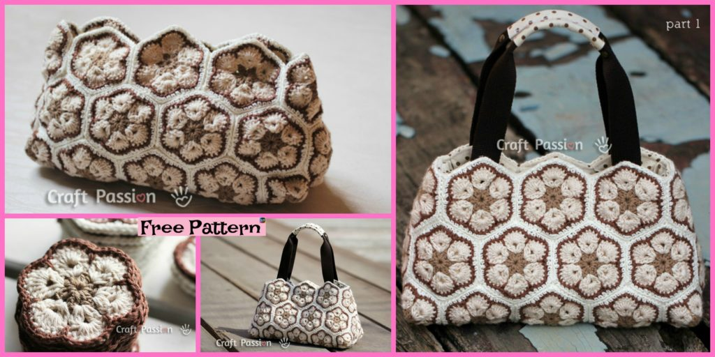 Pretty Crochet African Flower Purse Free Pattern Diy 4 Ever