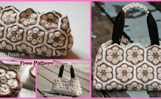 diy4ever Pretty Crochet African Flower Purse Free Pattern F 332x205 - Pretty Crochet African Flower Purse - Free Pattern