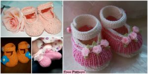 diy4ever-knit Adorable Baby Booties - Free Pattern