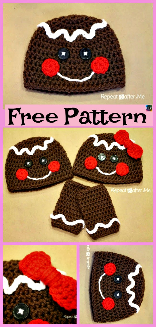 diy4ever-10 Crochet Christmas Hats - Free Patterns