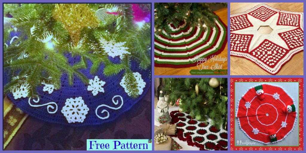 10 Crocheted Christmas Tree Skirt Free Patterns Diy 4 Ever