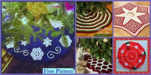 diy4ever-10 Crocheted Christmas Tree Skirt Free Patterns