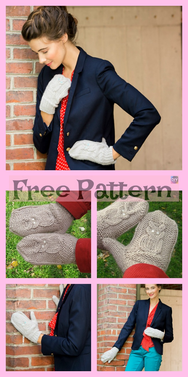 10+ Cute Knit Animal Mittens - Free Patterns